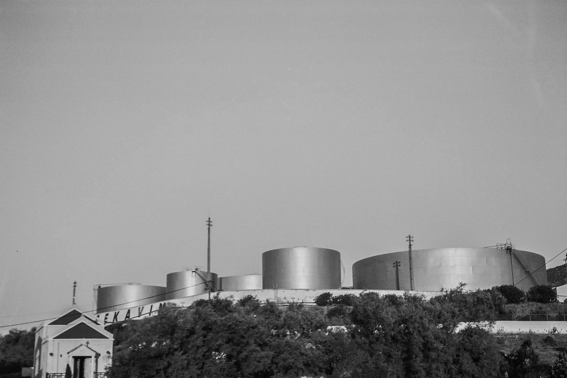 An industrial landscape of Syros [Photo by Myrto Tzima]