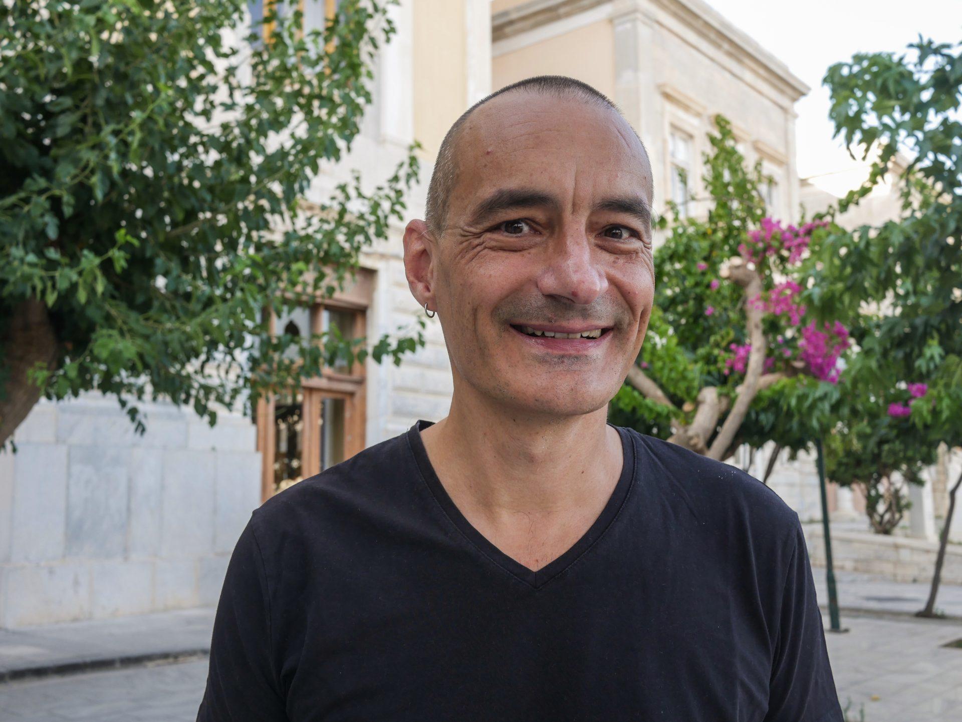 Thomas Köner in Syros [Photo by Myrto Tzima]