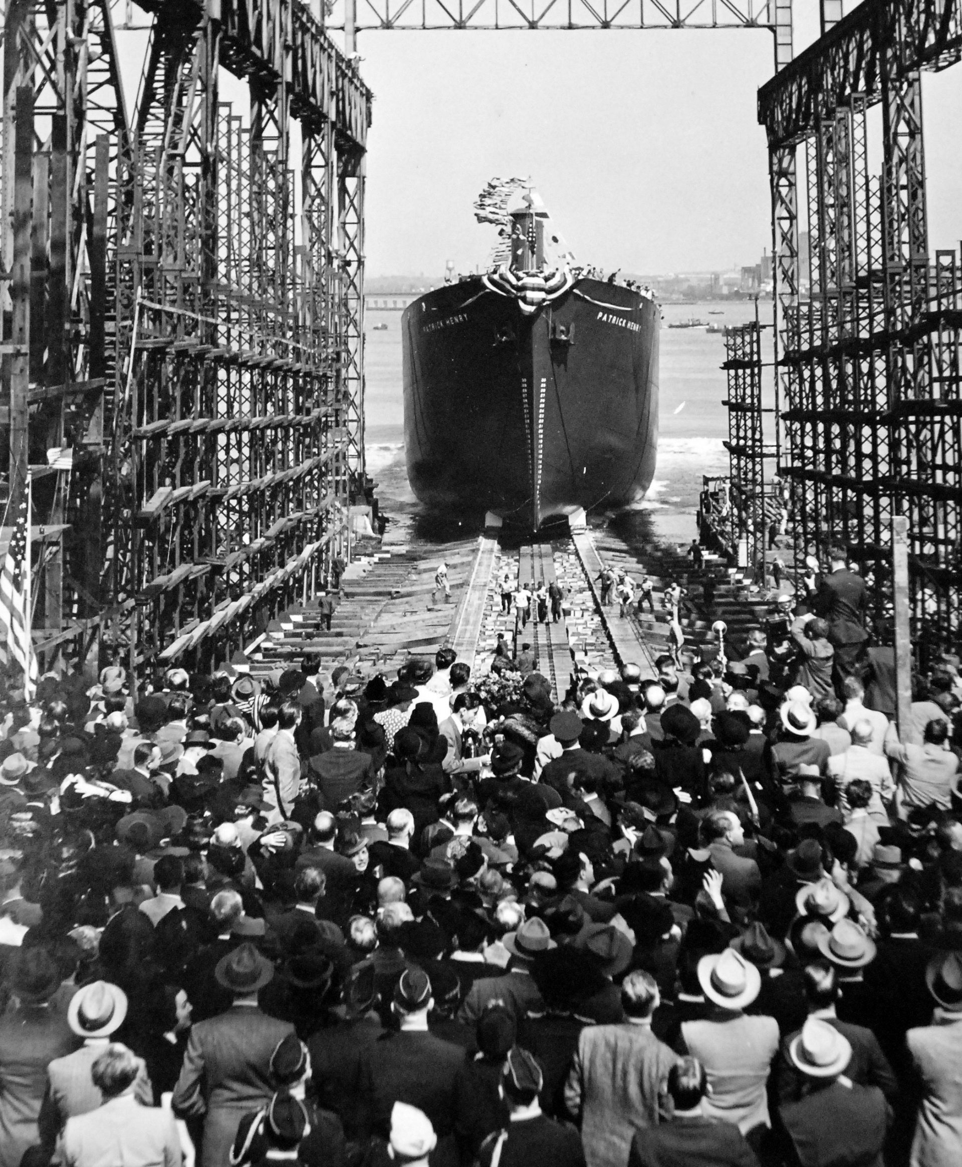 SS Patrick Henry Launching on Liberty Fleet Day, 27 September 1941, Photo Courtesy of the Library of Congress